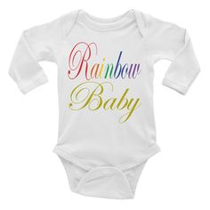 Rainbow Baby in Gold - Infant long sleeve one-piece