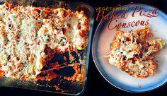 Vegetarian Baked Pizza Couscous