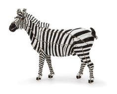 Zebra from the Wild at Art Limited Edition Collection. Handcrafted bead-and-wire African animal figurine