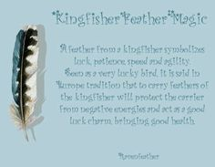 Kingfisher feather magic: add love, happiness, peace and connecting to the element of Water. Animal Spirit Guides, Spirit Animal, Wiccan, Witchcraft, Kingfisher Tattoo, Kingfisher Beer, Feather Meaning, Animal Magic, Practical Magic