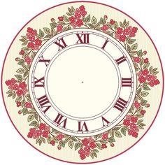 Clock Craft, Diy Clock, Clock Ideas, Clock Face Printable, Face Template, Round Pendant, Mosaic Art, Vintage Postcards, Homemade Gifts