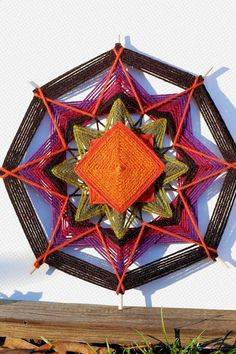 Items similar to Roots 12 inch Yarn mandala god's eye ojo de dios on Etsy Crochet Mandala, Mandala Pattern, Mandala Art, Hobbies And Crafts, Diy And Crafts, God's Eye Craft, Gods Eye, Sacred Symbols, Mandala Coloring