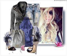 Stylizacja Kurtka Damska Jeans na Wiosnę Lato #113 w sklepie