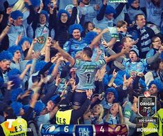 NSW Blues win Origin after 8 long years! National Rugby League, Wests Tigers, Rugby Men, Rugby Players, Go Blue, Cheerleading, Over The Years, Victorious, Blues