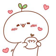 Pinching my bubs' cheeeeeks! Kawaii Chibi, Cute Chibi, Kawaii Art, Anime Chibi, Kawaii Anime, Kawaii Drawings, Cute Drawings, Cute Kawaii Animals, Cute Love Gif