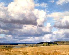 Clouds Pastel Landscape, Summer Landscape, Abstract Landscape, Landscape Drawings, Landscape Paintings, Oil Paintings, Cloud Art, Sky And Clouds, Pastel Art
