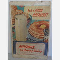 Werbeschild Vintage Breakfast, 87€, jetzt auf Fab.