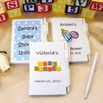 Personalized Baby Shower NoteBook Favors