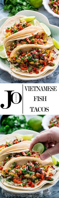 Vietnamese Fish Tacos | Jo Cooks