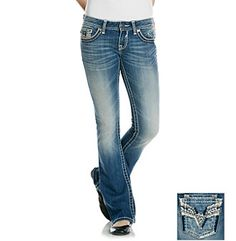 Vigoss© Bling Back Bootcut Jeans at www.herbergers.com