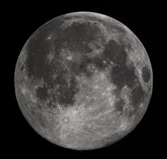 Earth's Moon - this is the familiar near side of the moon, the side we always see from Earth, as the Moon does not rotate.