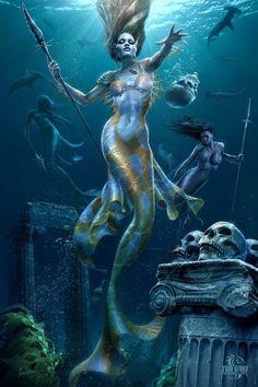 Sirens warrior mermaids