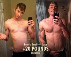 Lucas's 20 Pound Lean Gain Transformation