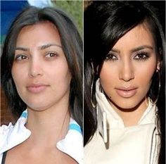 Kim Kardashian no makeup and she still looks stunning Kim Kardashian hat kein Make-up und sieht immer noch umwerfend aus Actress Without Makeup, Celebs Without Makeup, Blush Makeup, Beauty Makeup, Hair Beauty, Kim Makeup, Kim Kardashian Without Makeup, Makeup Before And After, Celebrities Before And After