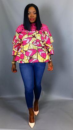 Imprimer africain niveaux haut vêtements africains tops