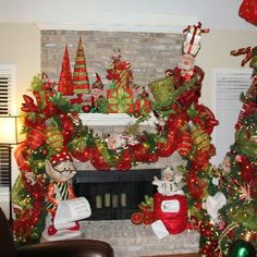 Here are 100 Best Christmas Mantel Decorations. Take inspiration for the perfect Christmas Fireplace decor, that include various themes & traditional styles Grinch Christmas Decorations, Whimsical Christmas, Victorian Christmas, Beautiful Christmas, Christmas Time, Silver Christmas, Vintage Christmas, Christmas Fireplace, Christmas Mantels