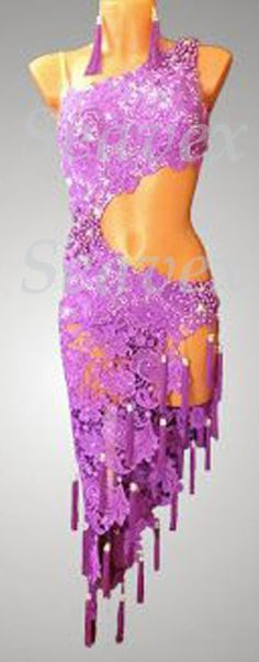 U3505 Cocktail Ballroom latin chacha swing samba rumba standard dance dress US 2