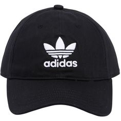 Adidas Originals Men Trefoil Logo Hat (367.705 IDR) ❤ liked on Polyvore featuring men's fashion, men's accessories, men's hats, hats, black and mens hats
