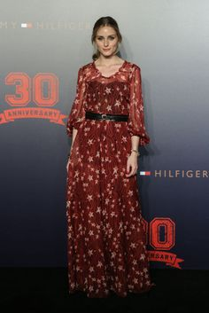 Olivia Palermo at an event in Beijing. See all of the model's most enviably perfect looks.