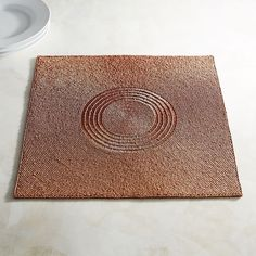 Pier 1 Imports Copper Beaded Square Placemat