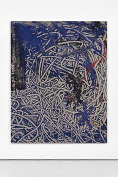 Ida Ekblad - A Day of Toil, 13, 2014    acrylics on unprimed linen canvas    190 x 150 cm / 74.8 x 59 in