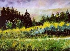 paintings fir trees - Google Search
