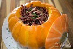 Receita de Carne seca na moranga especial para micro-ondas - Comida e Receitas