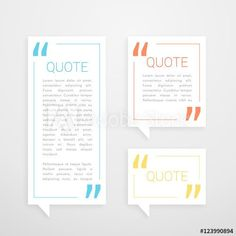 set of three quotation chat bubble in minimal white style Web Design Websites, Online Web Design, Free Web Design, Web Design Quotes, Website Design Services, Website Design Layout, Web Design Agency, Web Design Trends, Web Design Tutorials