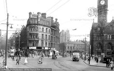 Bradford, Town Hall Square from Francis Frith Town Hall, Bradford, Street View, History, Yorkshire, Places, 1950s, Kiss, Memories