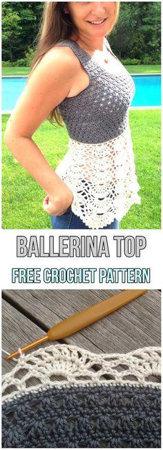 Ballerina Top [Free Crochet Pattern]