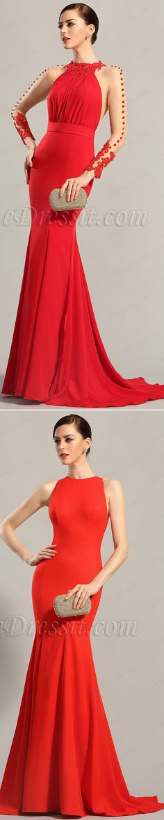 Bold red gowns! Party needs a classic look, so you need it. Find it on edressit.com