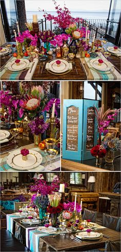 Perfect inspiration for the modern bohemian bride looking for elaborate yet relaxed wedding decor. Perfectly captured by Matt Theilen Photography - tropical_wedding_decor. Tropical Wedding Decor, Bohemian Wedding Decorations, Wedding Themes, Wedding Events, Tropical Decor, Wedding Ideas, Tropical Party, Tropical Colors, Bright Colors