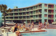sedraselections:Sea Dip Motel and Apartments - Daytona Beach, Florida by Jordan Smith (The Pie Shops) Daytona Beach Florida, Florida City, Old Florida, Vintage Florida, Florida Beaches, Florida Tourism, Florida Hotels, Vintage Hotels, Vintage Travel