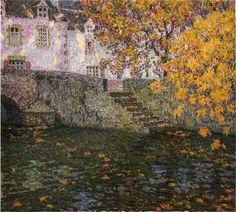 Autumn ~ Henri Eugène Le Sidaner ~ (French: 1862-1939)