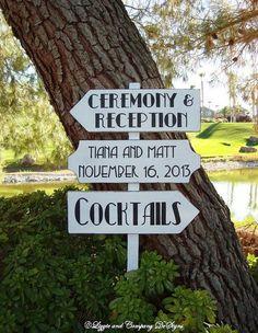 White and gold Gatsby-themed outdoor directional signage #wedding #gatsby #sign #artdeco #weddingdecor