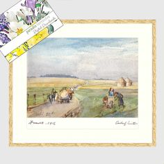 24th Sept 1916 Watercolour Painting,France WW1 Printable Art, Instant Download, Archer L Smith 1879 – 1943, Wall Art, Classic Art, Picture Luxury Card, Thing 1, Hanging Art, Archer, Watercolour Painting, Printing Services, Printable Art, Buy Art, Fine Art Prints