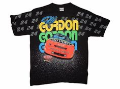 Vintage Jeff Gordon #34 Shirt Size L NASCAR Going Going Gone Huge Graphics #MotorsportTraditions #GraphicTee