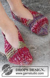 Children - Free knitting patterns and crochet patterns by DROPS Design Knitting Patterns Free, Knit Patterns, Free Knitting, Free Pattern, Kids Slippers, Knitted Slippers, Knitted Hats, Drops Design, Knitting For Kids