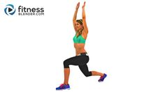 56 Minute SweatFest Butt and Thigh Cardio Workout - Calorie Blasting Interval Cardio for Lower Body - Fitness Blender - No equipment, 100% Free