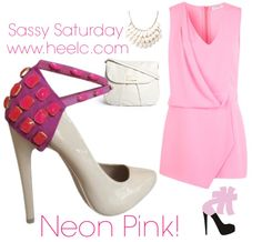 "Neon PINK!!! Heel Condoms   Sassy saturday outfit with ""Pinkysh Feeling"" Heel Cs!  Buy these cute pink beaded shoe accessories now at: www.heelc.com & Amazon.com  We have many styles ON SALE at our website, shop now!!!  Tag a friend who LOVES pink!  #heelcondoms#heelc#ootd#outfit#trends#pink#accessories#fashion#style#moda#estilo#blog#blogger#neon#shoeaccessories#entrepreneur#designer#puertorico"