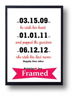 FRAMED Art Wedding Sign Handmade(He stole her Heart)  First paper Wedding Anniversary Gift for Couple or Husband