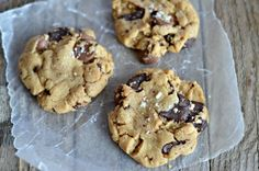 these look delicious! Salted Chocolate Chip Peanut Butter Cookies - Mountain Mama Cooks
