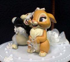 THUMPER Bunny Rabbit Wedding Cake Topper Disney Bambi 2  Toppers