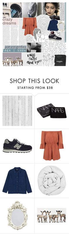 """""""forgotten like an old song"""" by starry-skies-in-the-city ❤ liked on Polyvore featuring Piet Hein Eek, NARS Cosmetics, New Balance, Topshop, Monki, The Fine Bedding Company, Chanel, country, women's clothing and women"""