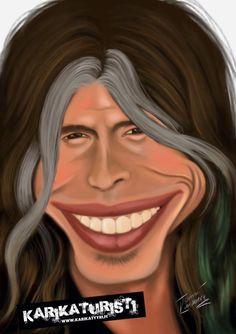 Steven Tyler Steven Tyler, Caricatures, Mac, Color, Celebrity, Caricature, Colour, March, Caricature Drawing