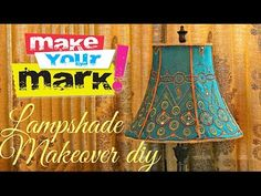 How to: Fancy Lampshade Makeover DIY pap de abajur Make A Lampshade, Lampshades, Cover Lampshade, Lampshade Ideas, Lamp Cover, Lamp Ideas, Frame Crafts, Book Crafts, Shabby Chic Lamp Shades