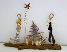Noël ! Figurines en ficelle et papier
