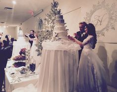 ✨Voorhis/Sindell & Holbrook/Mornout Double Wedding✨ winter wedding winter bride silver wedding glitter wedding