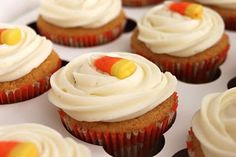 """""""Pumpkin Cupcakes"""" with Cream Cheese Frosting. Very easy to make."""