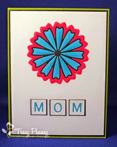 Card by Tracy for Your Next Stamp featuring Flower Fun Die One and Letter Board Die (front of card)
